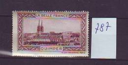 FRANCE. TIMBRE. VIGNETTE. BELLE FRANCE. BRETAGNE. ...................QUIMPER - Tourism (Labels)