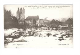 CPA : 62 - Mont Saint Eloi : Une Rue Et Les Tours Bombardées ( Vue Peu Commune - Guerre 1914-18