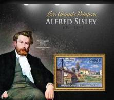 Ca13116b Central African 2013 Painting S/s Alfred Sisley Bridge - Impressionisme