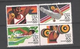 USA Atlanta 1984 Airmail Bloc Of 4 YV PA 95/8t MNH - Ete 1984: Los Angeles