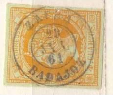 Año 1860 Edifil 52 4c  Sello Isabel II Matasellos Zafra Badajoz - 1850-68 Royaume: Isabelle II
