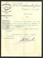 TOURNAI V & E CARBONNELLE FRERES  Distillerie Du Cornet De Poste  Fabrique De Levure   21.09.1916 - Belgique