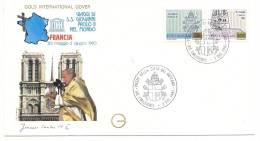 Enveloppe - VIAGGI DI Giovanni Paolo II  Francia - Maximum Cards