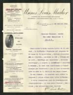 ROUCOURT AMOUGIES   USINES LOUIS MARLIER Ateliers De Constructions Mecaniques Sucreries Distilleries Poulies 28.07.1915 - Belgique