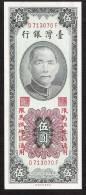 TAIWAN  PR121   5  YUAN   1955  MATSU Printer PFBT  UNC. - Taiwan