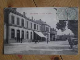 CPA LONGUYON L'entrée De La Gare - Longuyon