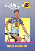 Sport  - CYCLISME -Equipe Z (vêtements) -Wayne BENNINGTON -saison 91 (1991) *PRIX FIXE - Ciclismo