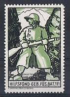 FP 305 - FELDPOST Infanterie GEB.FÜS.BAT.111 Neuf - Labels