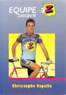 Sport  - CYCLISME -Equipe Z (vêtements) -Christophe CAPELLE -saison 91 (1991) *PRIX FIXE - Ciclismo