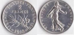 A SAISIR--2 FRANCS SEMEUSE 1914--ETAT TTB++ - I. 2 Francs