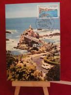 FDC - Le Rocher De La Vierge ( 64 Biarritz ) - 25.9.1976  Carte Maxi 1er Jour - FDC