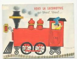 Voici La Locomotive Qui Tchouf, Tchouf... Tire La Voiture Du Père Noël. Triptyque. 1969 - Nouvel An