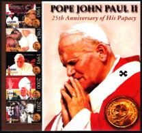 GHANA 2004 Pope John Paul II Papacy - 25, MNH - Pausen