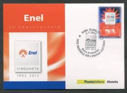 ITALIA - FDC CARTOLINA MAXIMUM CARD 2012 - ENTE NAZIONALE PER L'ENERGIA ELETTRICA ENEL - 362 - Maximum Cards