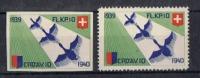 FP 313 - FELDPOST Flieger / Aviation FL.KP.10 Dentelé + Non-dentelé Neufs - Vignettes