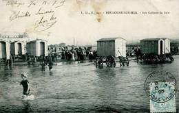 N°29398 -cpa Boulogne Sur Mer -les Cabines De Bain- - Boulogne Sur Mer