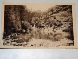 Carte Postale Ancienne : JAUJAC : La Turbine Et La Plage - France