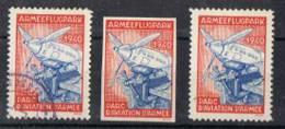 FP 317 - FELDPOST Flieger / Aviation ARMEEFLUGPARK Oblitéré + Neufs D Et ND - Vignettes