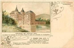 Isere -ref 423- Chateau De Vizille - Carte Postale Capmartin No 31- Publicité Poudre Cap -santé  - Carte Bon Etat  - - Vizille