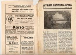 Latvia - Old Latvian National Opera Programm 1935 - 1936 - 36 Pages - R Program - Programs