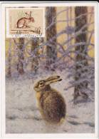 Carte-Maximum HONGRIE  N° Yvert 1693 (LIEVRE) Obl Sp Ill 1er Jour 1964 - Maximumkaarten
