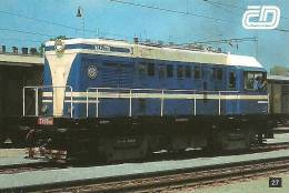 RAIL * RAILWAY * RAILROAD * TRAIN * LOCOMOTIVE * CZECH RAILWAYS * PREROV * CALENDAR * CD 27 ZP * Czech Republic - Calendarios