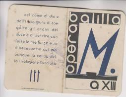Tessera Fascista Opera Balilla XIII 1935 - Documenti Storici