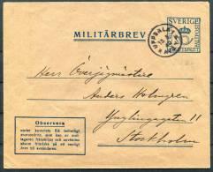 1940 Sweden Uppsala Military Militarbrev - Militaires