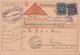DR NN-Karte Mif Minr.209,230 Leipzig 3.3.23 - Briefe U. Dokumente