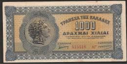 Dracmae 1.000/1.10.1941  AUNC! (soil) - Griechenland