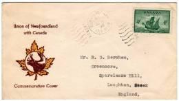 Canada - Commemorative Cover - Union Of Newfoundland With Canada - 1949 - 1937-1952 Reinado De George VI