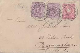 DR Brief Mif Minr.2x 40,41 Dresden 17.1.86 Gel. Nach England - Deutschland