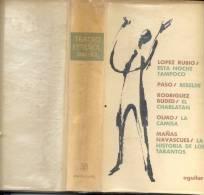 TEATRO ESPAÑOL 1961-62 ESTA NOCHE TAMPOCO JOSE LOPEZ RUBIO - REBELDE ALFONSO PASO - EL CHARLATAN RICARDO RODRIGUEZ BUDED - Theatre