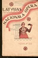 Latvia - Old Latvian National Opera Programm 1934 - 1935 - 44 Pages - R Program - Programs