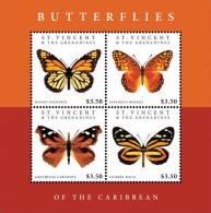sav1212sh St.Vincent 2012 Butterflies of the Caribbean s/s
