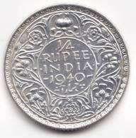 @Y@    BRITISH India 1/4 Rupee 1940 (2278) - Indien