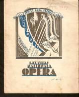 Latvia - Old Latvian National Opera Programm 1932 - 1933 - 24 Pages - R Program - Programs