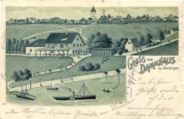 Dammhaus Bei Uerdingen, Litho, 1901 Nach Graslitz In Böhmen Versandt - Krefeld