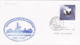 """Schiffspost:  Wasserinjektionsgerät """"HOL DEEP"""", Hansestadt Bremisches Amt, Stempel: Bremerhaven 9.9.1995"""