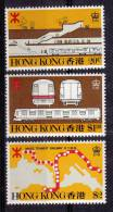 Hong Kong MNH Scott #358-#360 Set Of 3 Mass Transit Railroad - Various Views - Nuevos