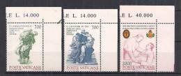 VATICANO 1986 SANTI CAMILLO DE LELLIS E GIOVANNI DI DIO SASS. 797-799  MNH XF - Nuovi