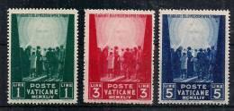 VATICANO 1945 PRO PRIGIONIERI SASS. 99-101 MNH XF - Nuovi