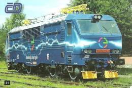 RAIL * RAILWAY * RAILROAD * TRAIN * LOCOMOTIVE * CZECH RAILWAYS * CALENDAR * CD 31 CS * Czech Republic - Calendarios