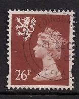 SCOTLAND GB 1997 QE2 26p Chestnut Used Machin 2 Bands S91. ( K605 ) - Regional Issues