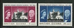 British Guiana       Churchill     Set  SC# 297-98 MNH** - Sir Winston Churchill