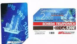 TELECOM ITALIA - C.& C. 2831  - GENOVA VERSO IL 2000: NAVE  - USATA - Italia