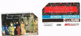 TELECOM ITALIA - C.& C. 2997 - NATALE 1998 , PRESEPE DI GRECCIO      - USATA - Italia