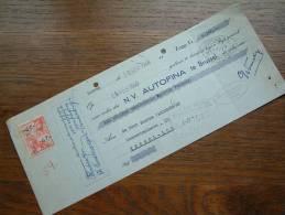 AUTOFINA ( Vanderwegen Kessel-Lo ) Anno 1948 - BRUSSEL / RECU - WISSEL ! - Lettres De Change