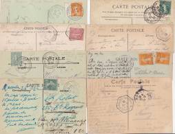 8 CARTES DE L'EXPOSITION COLONIALE DE MARSEILLE   COTE POTHION:194 EUROS - Cachets Commémoratifs