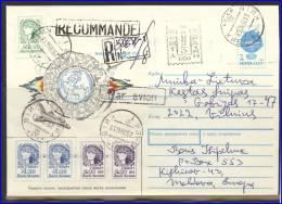 UKRAINE Postal History Envelope UA 144 Provisional Postage Overprint Space Plane - Ucrania